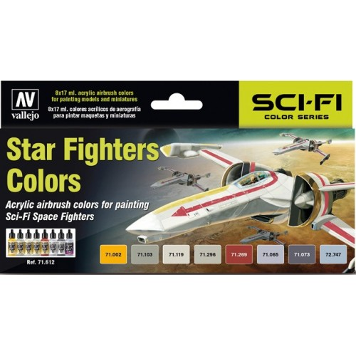 MODEL AIR SET: STAR FIGHTHER COLORS (8 BOTES 17ML) - ACRILICOS VALLEJO 71612