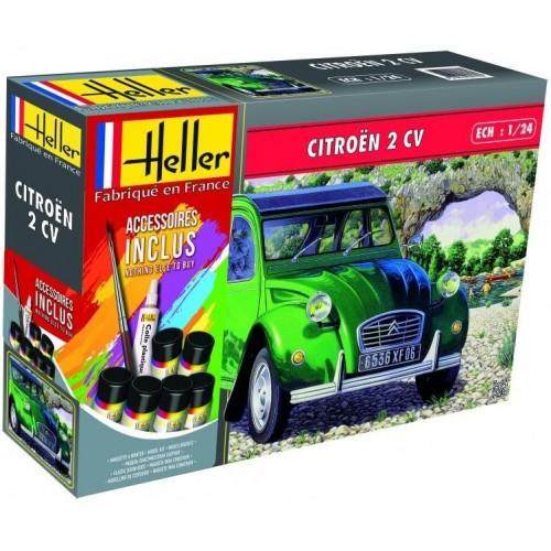 CITROEN 2 CV (Pegamento & Pinturas) -Escala 1/24- Heller 56765