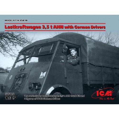 CAMION RENAULT AHN 5,5 Ton & CONDUCTORES -1/35- ICM 35418
