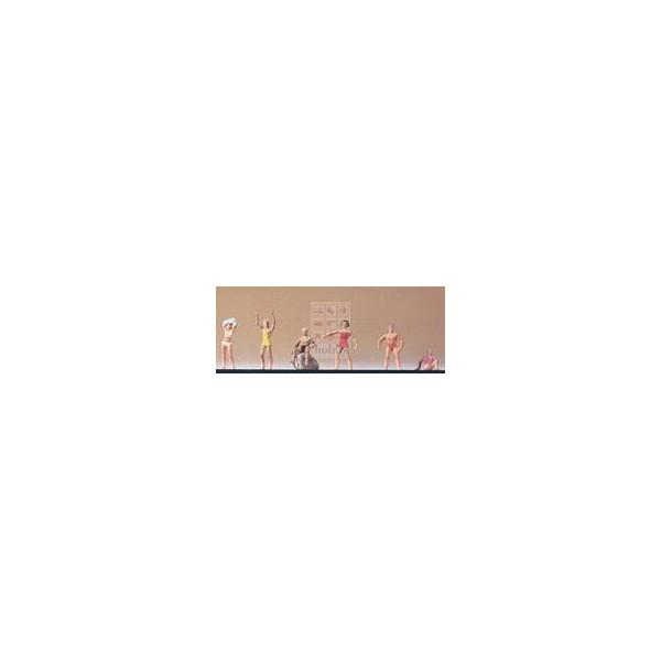 BAÑISTAS (6 figuras) -Escala H0 / 1/87- Datank 4041