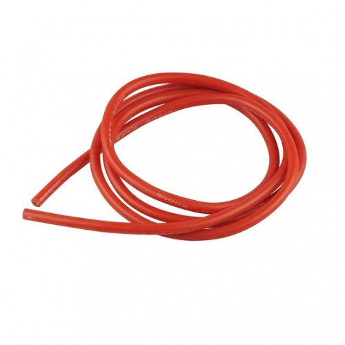 CABLE DE SILICONA ROJO 4mm (1 metro)