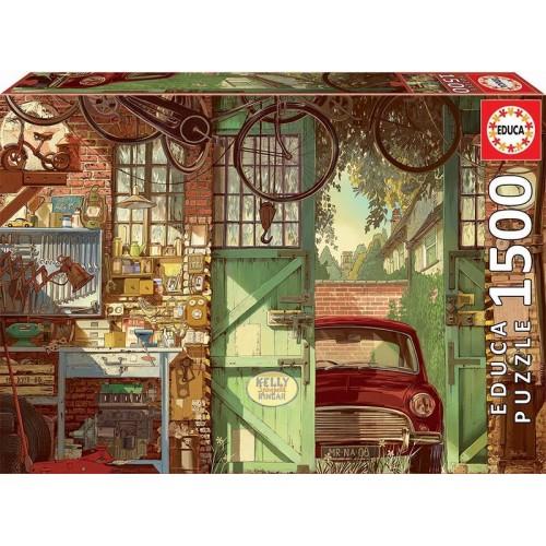 PUZZLE 1500 PZS OLD GARAJE , ARLY JONES - EDUCA 18005