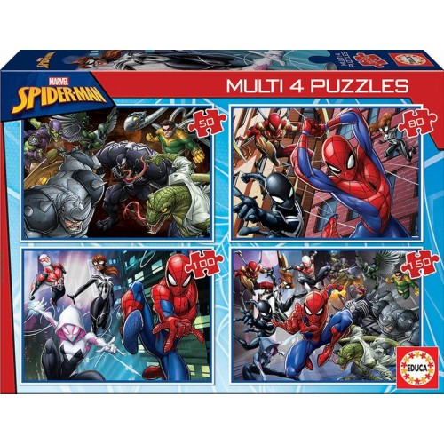 PUZZLE PROGRESIVO 50, 80, 100, 150 Pzas SPIDERMAN - Educa 18102