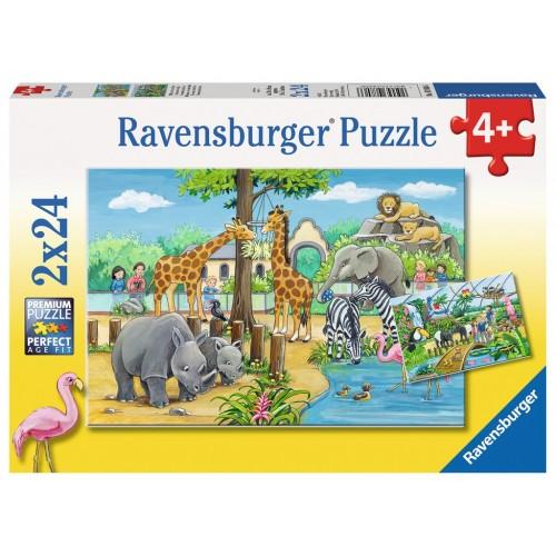 PUZZLES 2x24 PZS BIENVENIDO AL ZOO - RAVENSBURGER 07806