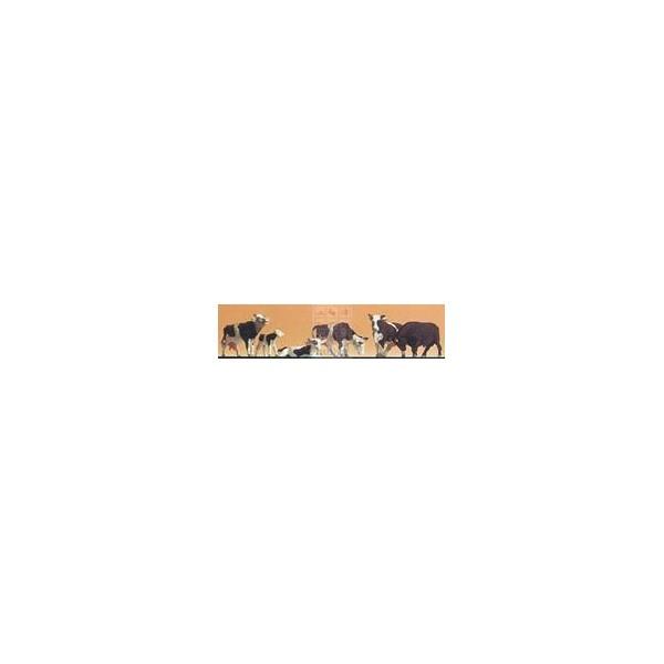 VACAS CANELA (6 unidades) - Escala H0 / 1/87- Datank 4009C