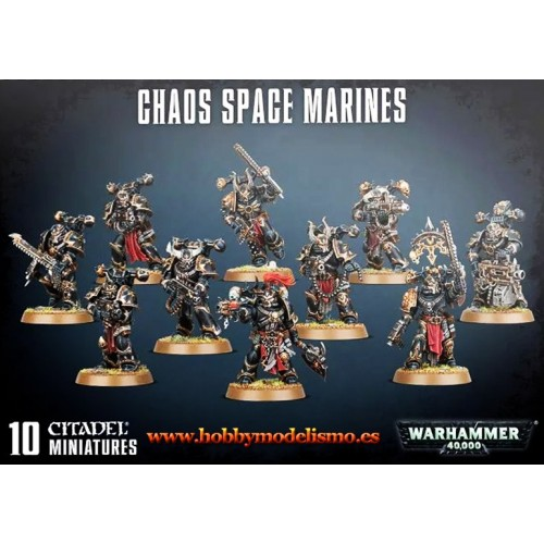 CHAOS SPACE MARINES (10 MINIATURAS) - GAMES WORKSHOP 43-06