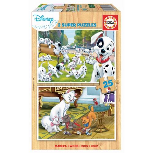 PUZZLE 2 X 25 PZS DISNEY ANIMALS - EDUCA 18082