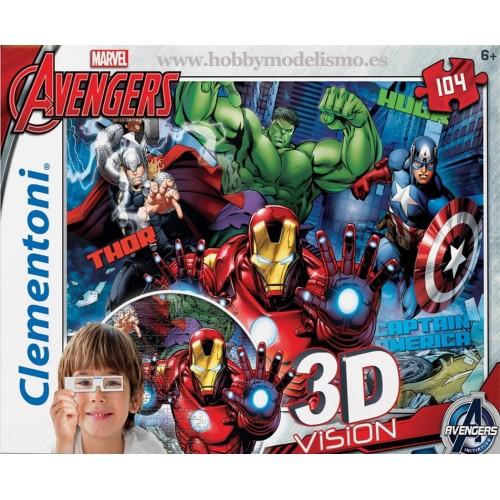 PUZZLE 104 PZS 3D EVENGER INITIA - CLEMENTONI 20153