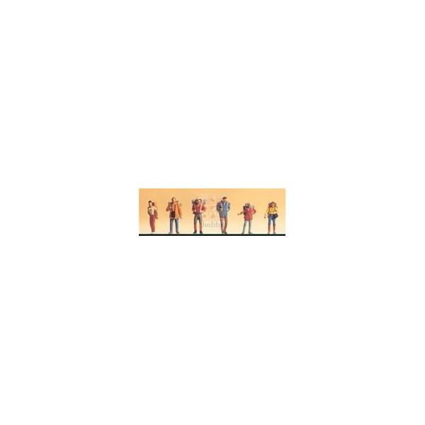 EXCURSIONISTAS (6 figuras) -Escala H0 / 1/87- Datank 4114