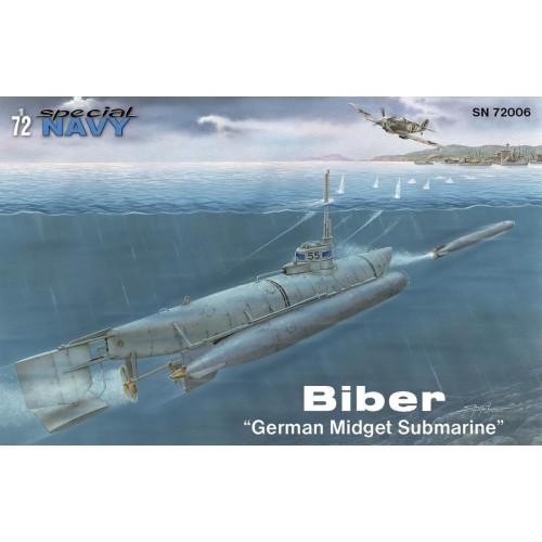 SUBMARINO BIBER -1/72- Special Navy SN72006